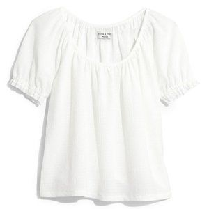Madewell Peasant Texture & Thread White Top - sz L